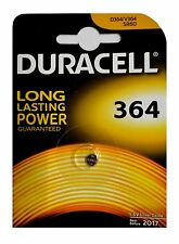 2 x D364 Duracell Knopfzelle Silver Oxide Batterie D364 SR60 V364 364 SR621