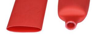 "DW1S3X-19.1 Dual Wall 3:1 Heat Shrink Tubing 19.1mm (3/4"") - RED, 1 Foot, Qty: 5"