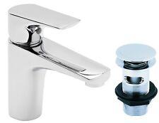 Tavistock Strike Square Basin Bathroom Mixer Low Pressure Tap Click Clack Waste