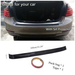 Car Rear Bumper Sill Protector Plate Rubber Cover Guard Trim Pad Hatchback model