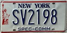 GENUINE New York Statue of Liberty SPEC-COMM License Number Plate Tag SV 2918