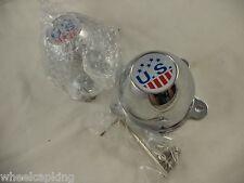 U.S. MAGS Wheels Chrome Custom Wheel Center Caps # 1002-20 / M-729 (SET OF 2)