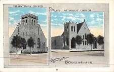 Douglas Arizona Church Multiview Antique Postcard K47326