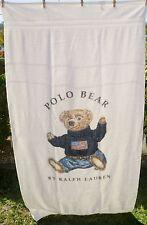 Polo Bear Ralph Lauren Oversized Body Towel Beach Towel Blue Sweater With Flag