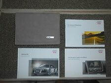 2009 Audi R8 owners manual with R8 leather case.