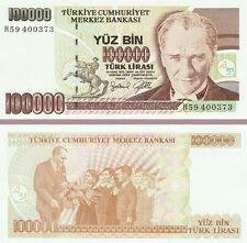 Turkey 100,000 Lira Banknote 1970 About Uncirculated,Cat#205-B