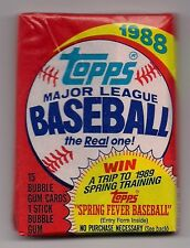 Bachelor Party Gift 20 Packs unopened 1988 Topps baseball Cards MINT set lot