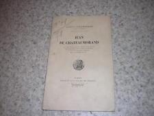 1919.Jean de Chateaumorand / Schlumberger.croisade orient moyen age