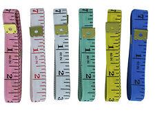 mètre de couture couturière couleur au choix 150cm gradué en cm/mm et en pouces