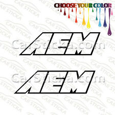 "2 x 8"" AEM /A car racing window vinyl sticker decal"