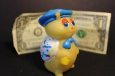 Vintage - Rubber Yellow Bug with Blue Hat, Bow Tie and Paint Brush