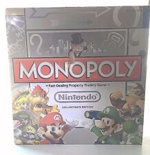 Sealed NINTENDO Monopoly  Family Board Game COLLECTORS Edition w/6 Tokens 2011