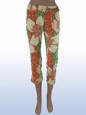 Pantalone capri floreale raro DENNY ROSE made italy tg s small nwt