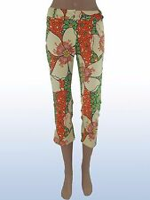 denny rose pantalone pants capri floreale raro made italy taglia s small nwt