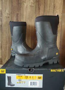 "CAT Caterpillar Unisex P724105 Stormers 11/"" Black Footwear Work Boots Shoes"