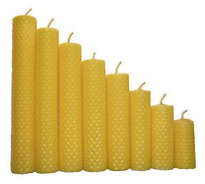 Handgedrehte Bienenwachskerzen für festliche Anlässe und besinnliche Stunden