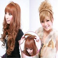 1Pcs Women Elastic Synthetic Plaited Headband Hair Band Headwear Hair Belt New