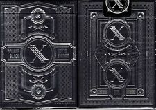 Double Black Classic Playing Cards Poker Size Deck USPCC Custom Limited Edition