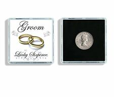 Lucky Sixpence Groom Wedding Keepsake In Display Case W2