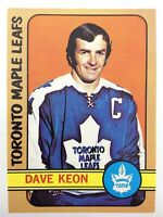 1972-73 Dave Keon Toronto Maple Leafs 108 OPC O-Pee-Chee Hockey Card P074