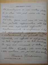 """1938 circa-BRUNA BECHERUCCI Autografo-Libro """"L'ISOLA"""""""
