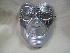 Silver Evil Masquerade Eye Mask Tragedy Gladiator Angry Warrior Roman Medieval