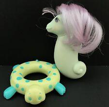 My Little Pony Baby Seapony Splasher with Turtle Float Vintage MLP G1 1984