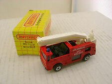 MATCHBOX LESNEY SUPERFAST #63 SNORKEL TRUCK LOS ANGELES CITY FIRE DEPT NEW MIB