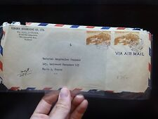 Japan 125Y Airplane x 2 on 1922 A/M cover to France (14bel)