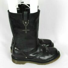Dr Doc Martens ALEXIA Mid Calf Black Leather Boots Sz US 7 Womens
