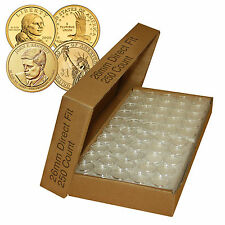 250 Direct Fit Airtight A26 Coin Holders Capsules For PRESIDENTIAL $1 /SACAGAWEA