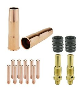 MIG Gun Parts for LIN 200 & 250, Tweco #2 - Diffusers + Tips + Nozzles