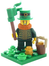 NEW LEGO LEPRECHAUN MINIFIG LOT st patrick's day irish pot of gold 4 leaf clover