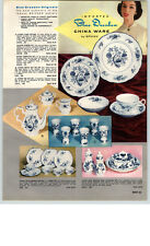 1959 PAPER AD Blue Danube Spihinx China Dinnerware Plates Meissen Hand Painted
