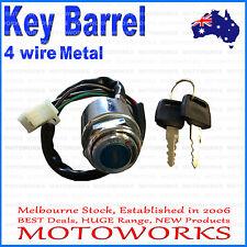 4 wire Metal Ignition Key Barrel switch ATV QUAD Bike Gokart Buggy Dirt Pit
