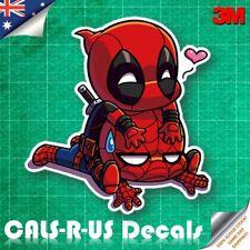 Funny Deadpool On Spiderman LOVE Decal Sticker Car Luggage Guitar Skateboard