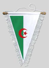FANION TRIANGLE ALGERIE - 18 X 25 CM - BLASON ECUSSON FOOTBALL