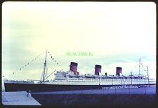 Original Slide RMS QUEEN MARY February 1968 LONG BEACH CA Excellent