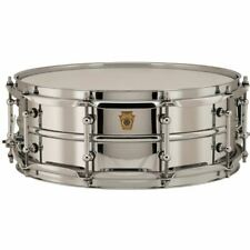 """Ludwig LB400BT Supraphonic Chrome-Over-Brass Snare Drum w/ Tube Lugs, 5"""" x 14"""""""