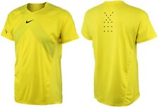 Rafael Nadal Nike Premier Sonic Yellow crew neck t shirt NWT size small. 2013