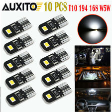 10X White 2825 194 168 W5W T10 Interior Map Dome License Plate Light LED Bulb E