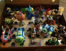 Lot Of 19 Skylanders Game AND Pieces For Ps3  Superchargers trap team Used