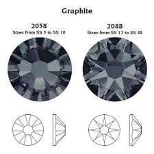 Swarovski Crystal Glue on 100 X Ss12 Graphite Grey Flatback Rhinestone Diamantes