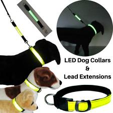 LED HI VIZ VISIBILIDAD HI Seguridad Reflectante intermitente Collar de perro de extensión de plomo &