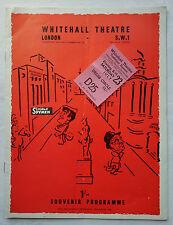 Simple Spymen.John Chapman.Whitehall Programme Ticket 1958.Larry Noble.C Cameron