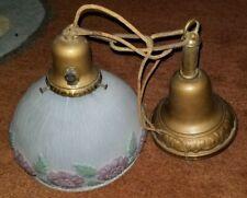 Antique light pendant floral - BEAUTIFUL!