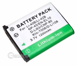 Battery for Olympus Li-40b Li-42b SLIM Camedia FE-5500 SP-700 Stylus 1200 830