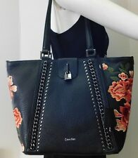 """Calvin Klein Embroidered Floral Flower Shoulder Bag Handbag Purse """"NWT"""""""