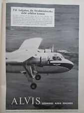 8/1958 PUB ALVIS LEONIDES AERO ENGINES SCOTTISH AVIATION TWIN PIONEER GERMAN AD