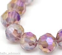 HS 3 Strange Lila Glasperlen Schliffperlen Facettiert Beads BICONE 4mm